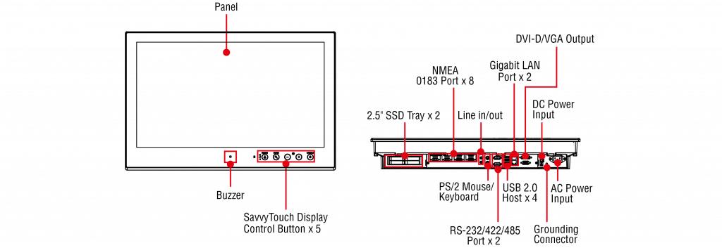 Panel PC MPC-2260 Moxa