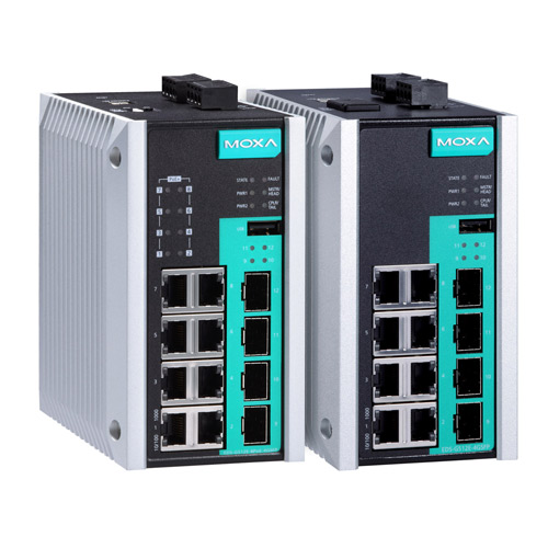 Switch Ethernet administrable Full Gigabit EDS-G512E Moxa