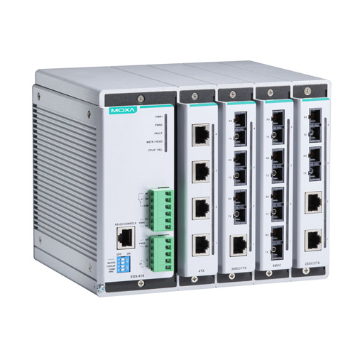 Switch Ethernet administrable modulaire EDS-616 Moxa