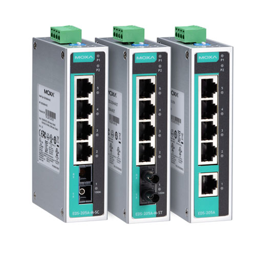Switch Ethernet non administrable EDS-205A Moxa