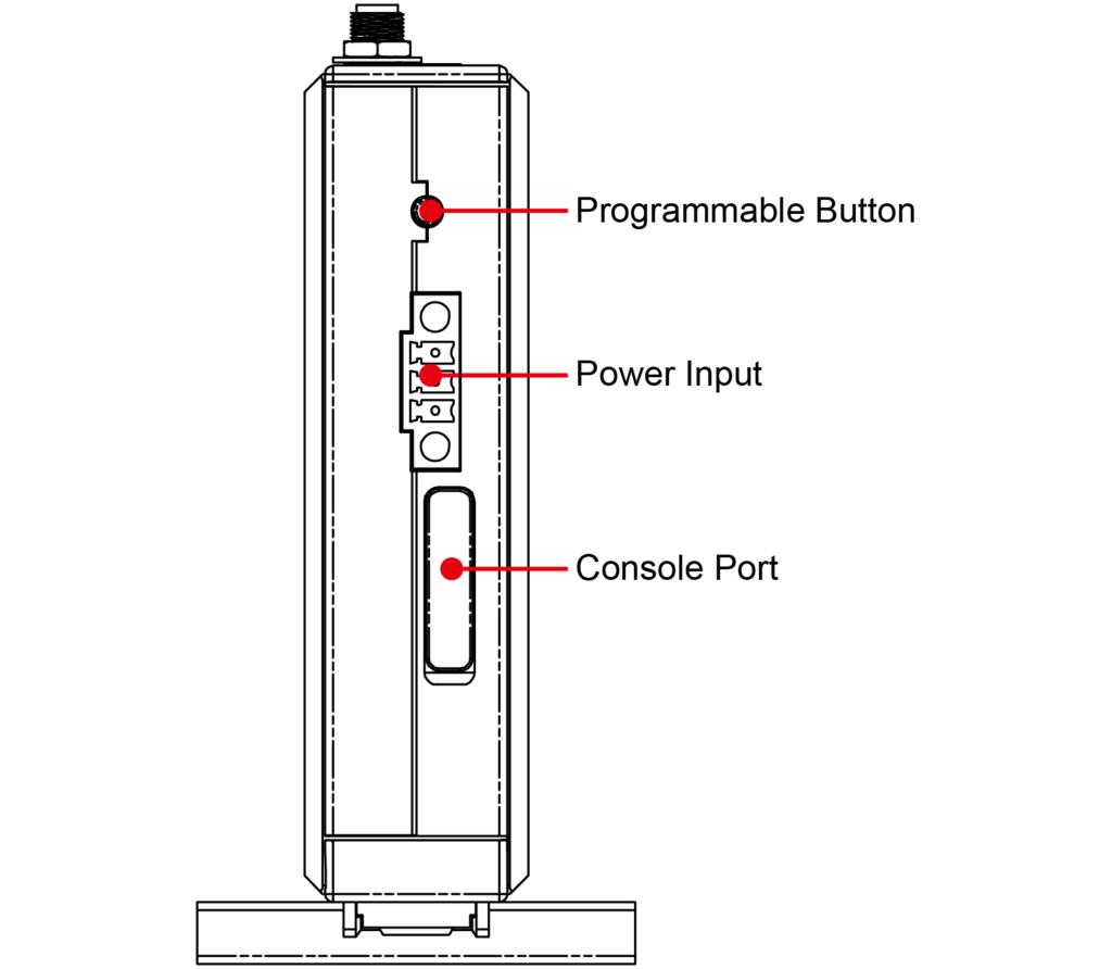 Vue-de-dessus-PC ARM-embarqué-UC-8100-Moxa