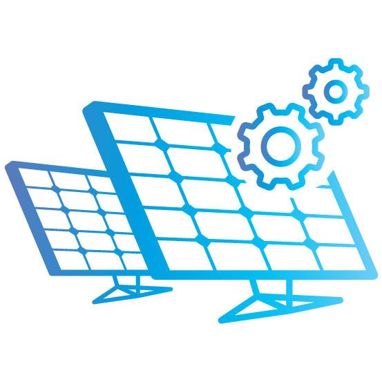 production des centrales solaires