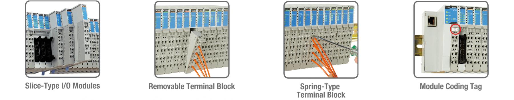 maintenance facile du système ES modulaire de la série ioLogik 4000 de Moxa