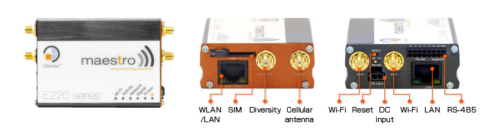 Apparence routeur cellulaire 3G LTE E220 Lantronix