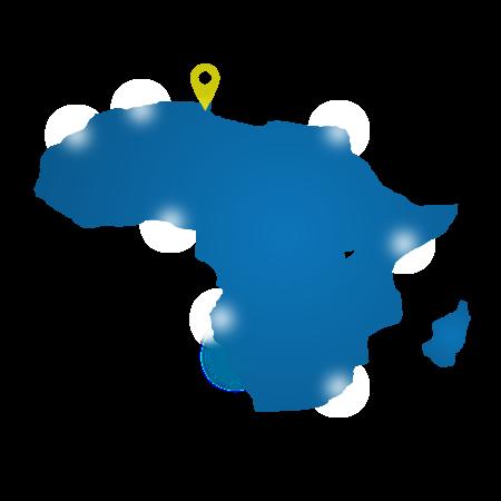 Livraison sur toute l'Afrique